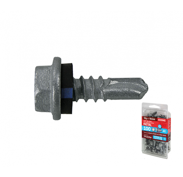 Trade Pack - Self Drilling Hex with Sealing Washer - Coarse